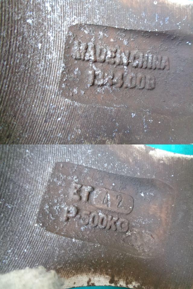 B-3番■155/65R13 ラジアルタイヤ  13×4.00B(4穴マルチ)社外アルミホイール SX  4本■B-3番_画像4