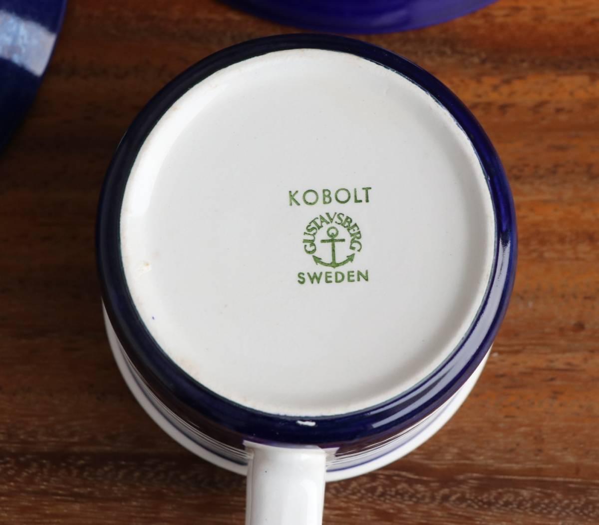 KOBOLT Karin Bjorquist カップ&ソーサーとプレート 北欧ヴィンテージ Gustavsberg グスタフスベリ_画像8