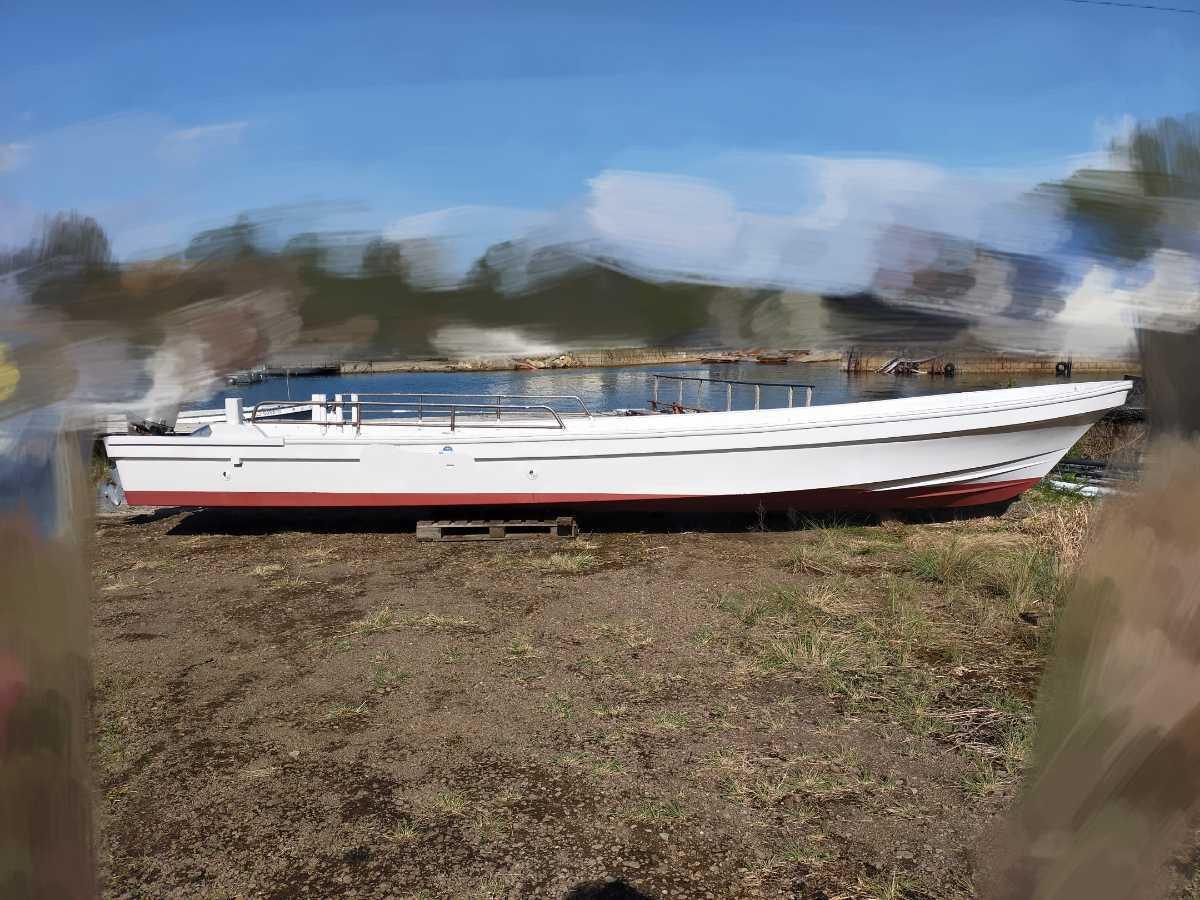 「ヤマハ 和船 ジャンク 船体のみ 船 ボート 漁船 8.2メートル 船外機」の画像1