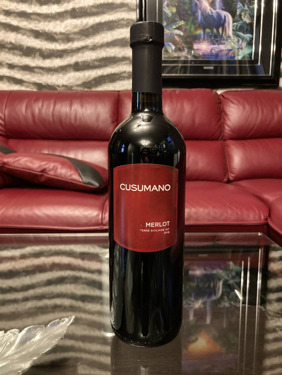 ◎【新品未開封】Merlot  Cusumano 2018 メルロー クズマーノ 赤ワイン イタリア産_画像1