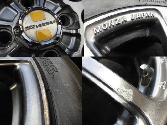 MONZA JAPAN R VERSION 4本セット 14インチ 155/65R14 溝有 ワゴンR ラパン スペーシア アルト デイズ ムーヴ タント キャンバス ウェイク_画像3
