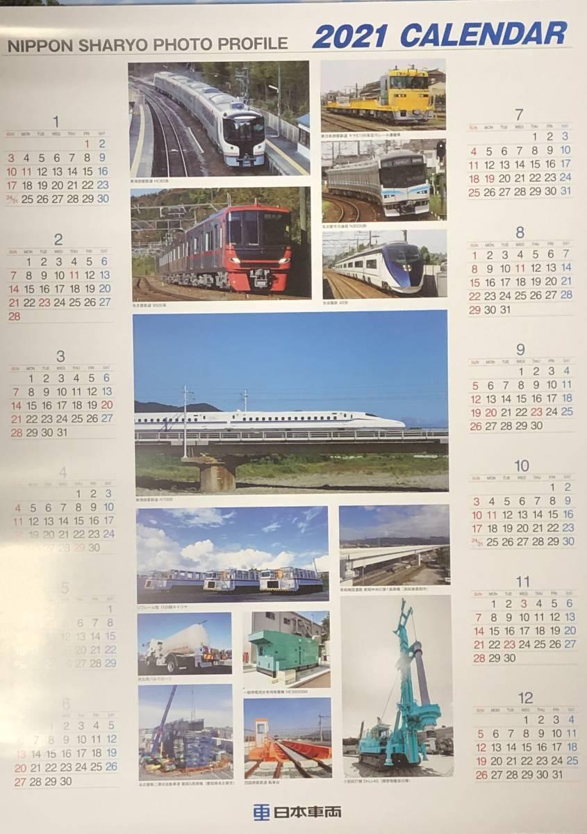 日本車輌製造 株主優待 2021年 壁掛け、ポスターカレンダー 計2種セット 日本車両 北から南から 鉄道の旅 縦:約77.5cm、横:約34cm_画像4