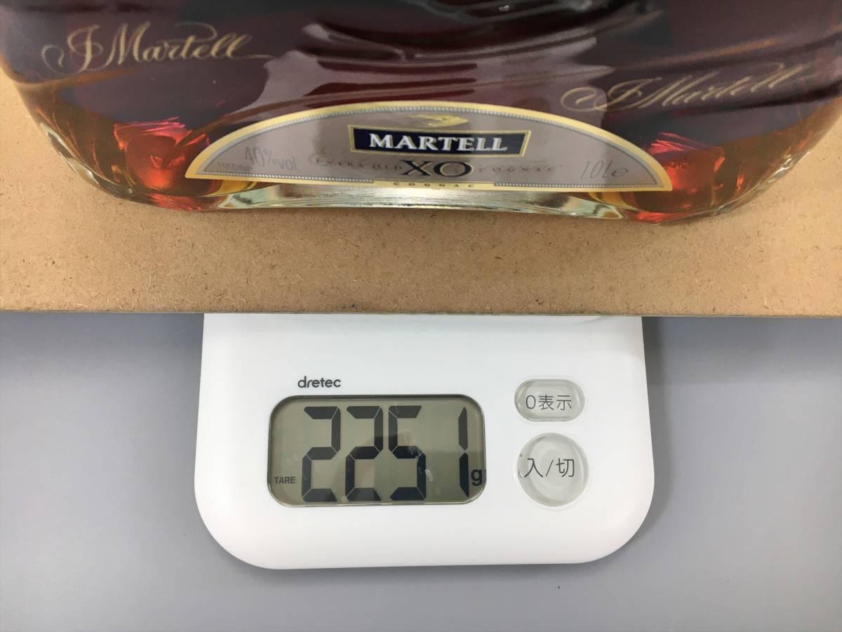マーテル MARTELL コニャック ブランデー XO エクストラオールド クリアボトル 1000ml 40% フランス 1L 箱付き 未開栓 2012LT127_画像8