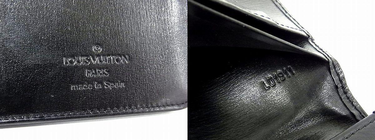 1円 ■美品■ LOUIS VUITTON ルイヴィトン M63212 エピ ポルトカルトクレディ 二つ折り 長財布 ウォレット ブラック系 J4355Uf_画像5