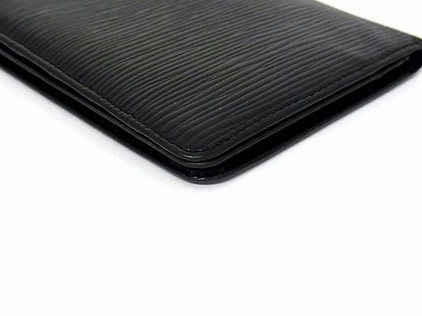 1円 ■美品■ LOUIS VUITTON ルイヴィトン M63212 エピ ポルトカルトクレディ 二つ折り 長財布 ウォレット ブラック系 J4355Uf_画像3