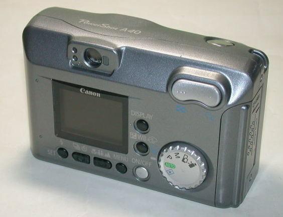 キヤノン PowerShot A40 キヤノンサービスメンテナンス / CCD交換済 単三電池4本使用 本体のみ 中古  001_画像2