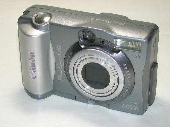 キヤノン PowerShot A40 キヤノンサービスメンテナンス / CCD交換済 単三電池4本使用 本体のみ 中古  001_画像1