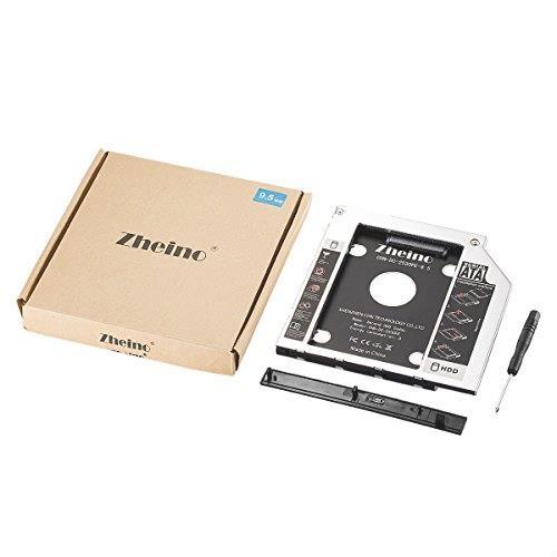 Zheino 2nd 9.5mmノートPCドライブマウンタ セカンド 光学ドライブベイ用 SATA/HDDマウンタよりCD/DVD CD ROM HDD CADDY に置き換えます_画像6