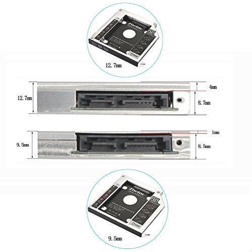 Zheino 2nd 9.5mmノートPCドライブマウンタ セカンド 光学ドライブベイ用 SATA/HDDマウンタよりCD/DVD CD ROM HDD CADDY に置き換えます_画像3