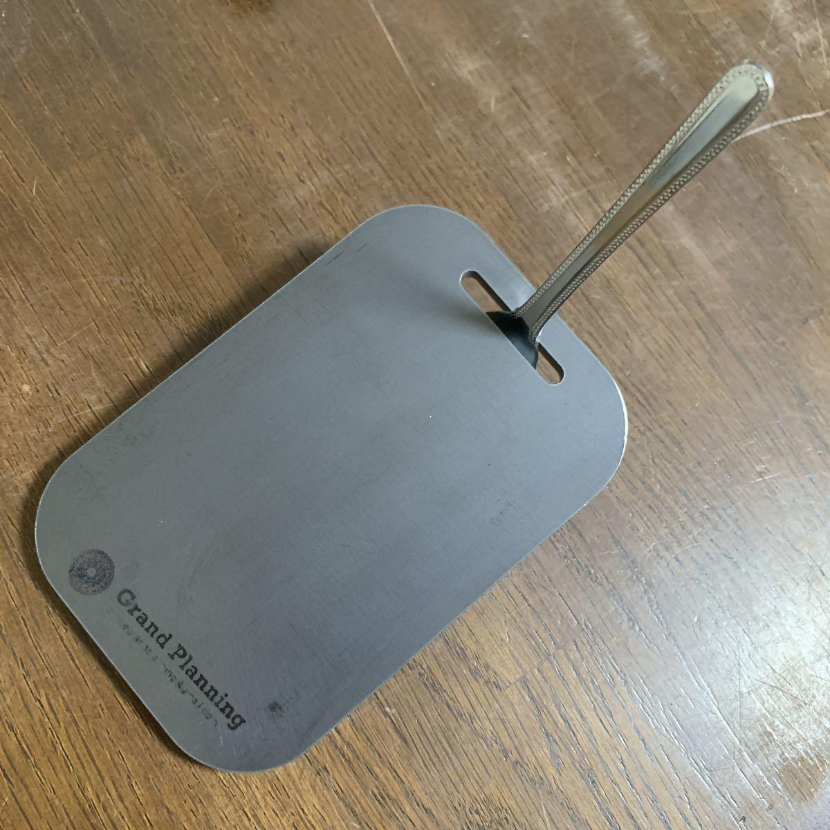 ソロキャンプ ミニ 6ミリ 鉄板 ポケットストーブサイズ メスティン スモール 収納可能 トング ヘラ ネオプレン収納袋付き