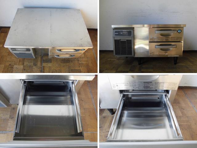 中古厨房 ホシザキ 業務用 ドロワー コールドテーブル 冷凍庫 フリーザー 引き出し2段 FTL-90DNCG 100V 34L 空冷式 2018年製_画像2
