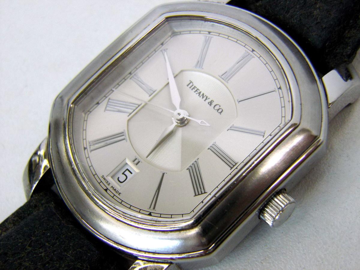 J0212-26店63157 動作確認! TIFFANY&Co. 21J マーククーペ 腕時計 ティファニー AUTOMATIC 裏蓋スケルトン_画像8