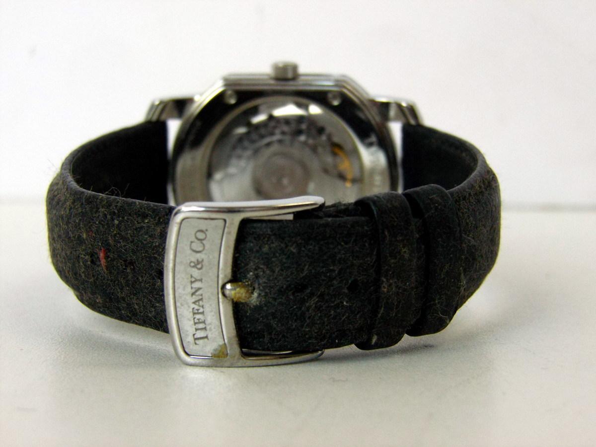 J0212-26店63157 動作確認! TIFFANY&Co. 21J マーククーペ 腕時計 ティファニー AUTOMATIC 裏蓋スケルトン_画像5