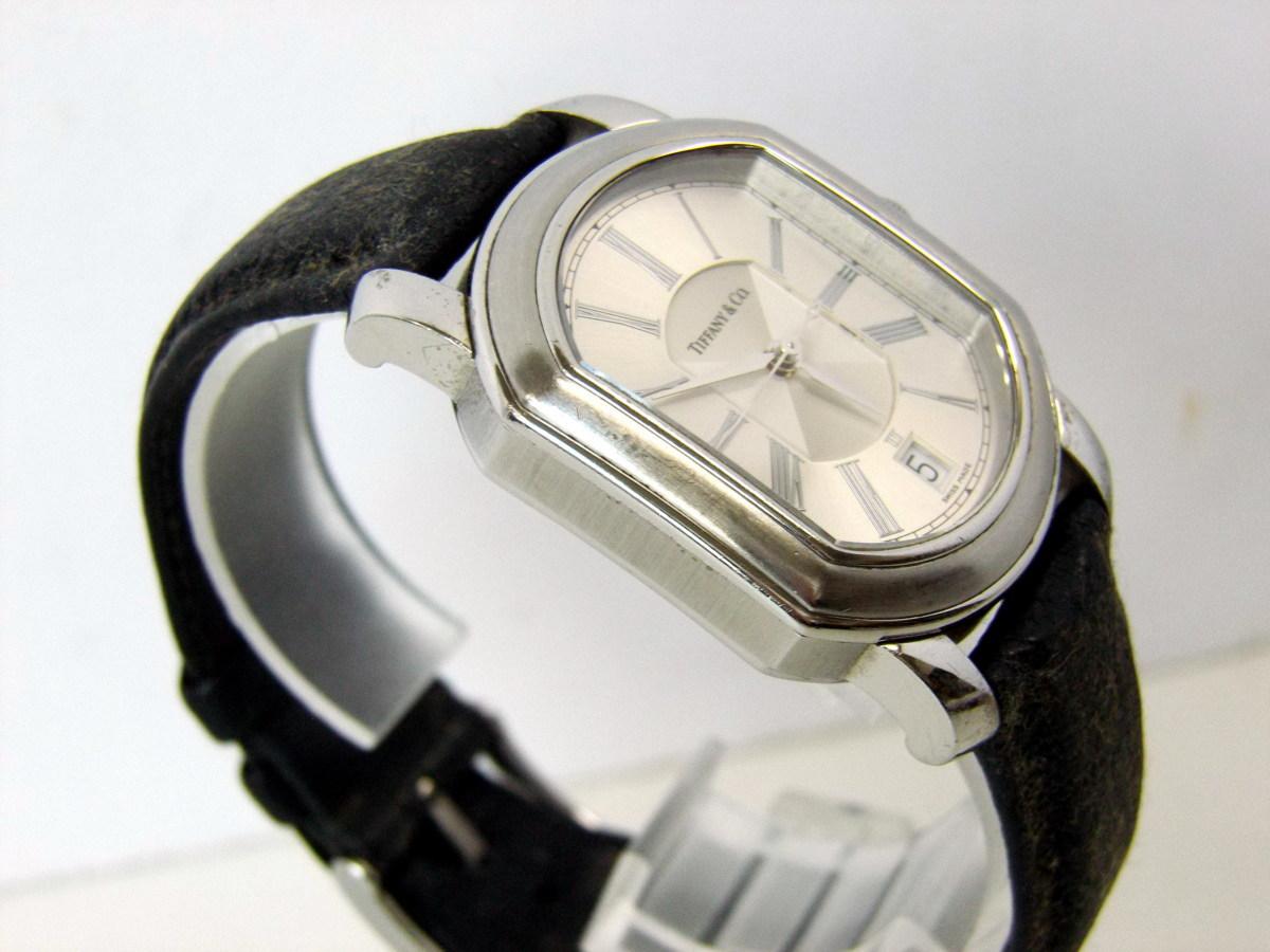 J0212-26店63157 動作確認! TIFFANY&Co. 21J マーククーペ 腕時計 ティファニー AUTOMATIC 裏蓋スケルトン_画像4