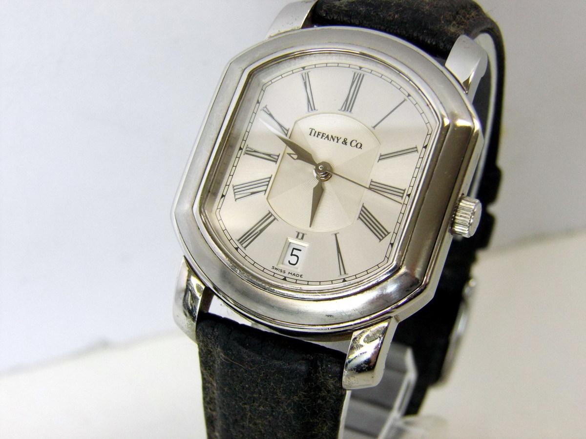 J0212-26店63157 動作確認! TIFFANY&Co. 21J マーククーペ 腕時計 ティファニー AUTOMATIC 裏蓋スケルトン_画像1