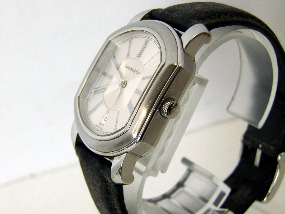 J0212-26店63157 動作確認! TIFFANY&Co. 21J マーククーペ 腕時計 ティファニー AUTOMATIC 裏蓋スケルトン_画像3