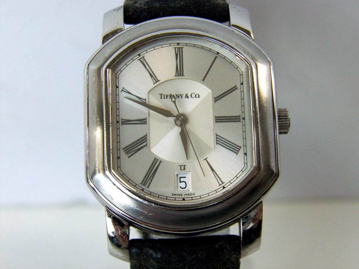 J0212-26店63157 動作確認! TIFFANY&Co. 21J マーククーペ 腕時計 ティファニー AUTOMATIC 裏蓋スケルトン_画像2