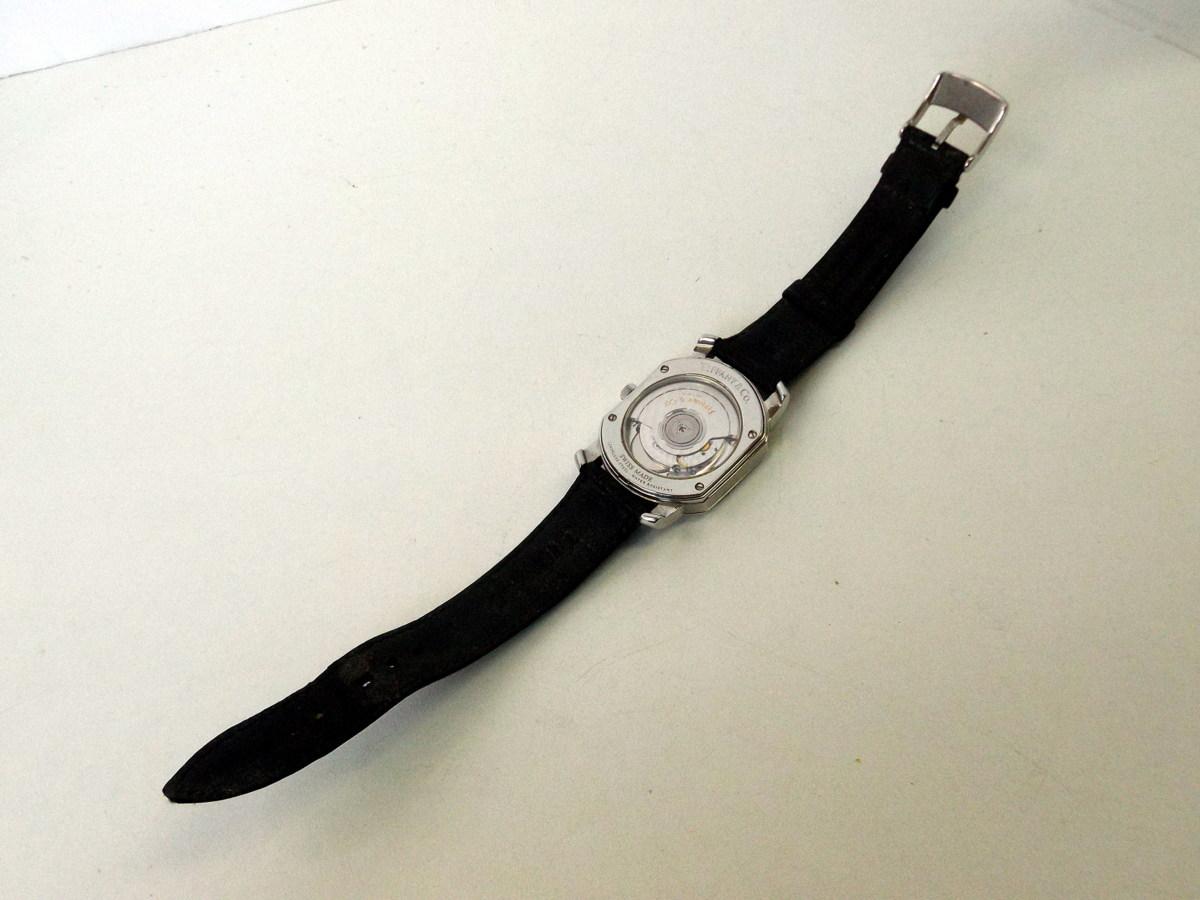 J0212-26店63157 動作確認! TIFFANY&Co. 21J マーククーペ 腕時計 ティファニー AUTOMATIC 裏蓋スケルトン_画像6