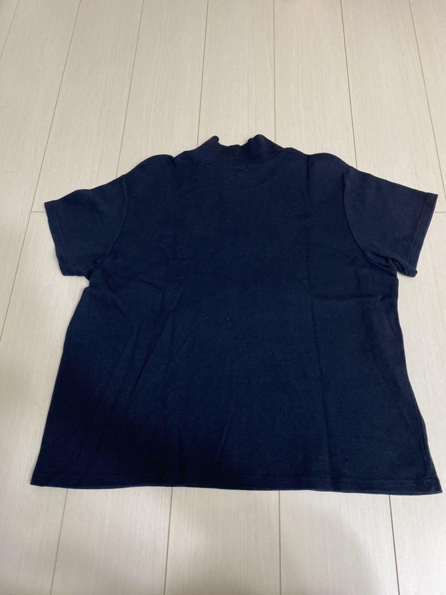Eddie Bauer モックネックTシャツ Tee エディバウアー 半袖Tシャツ XL