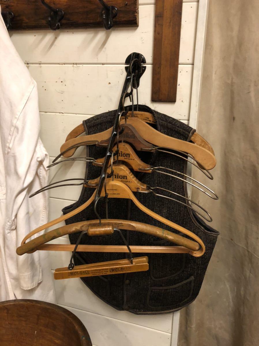 【vintage】ハンガーラック 20s 鋳物 店舗什器 antique ブロカント 古道具 アンティーク ヴィンテージ US 古着 雑貨 ディスプレイ アイアン_画像1