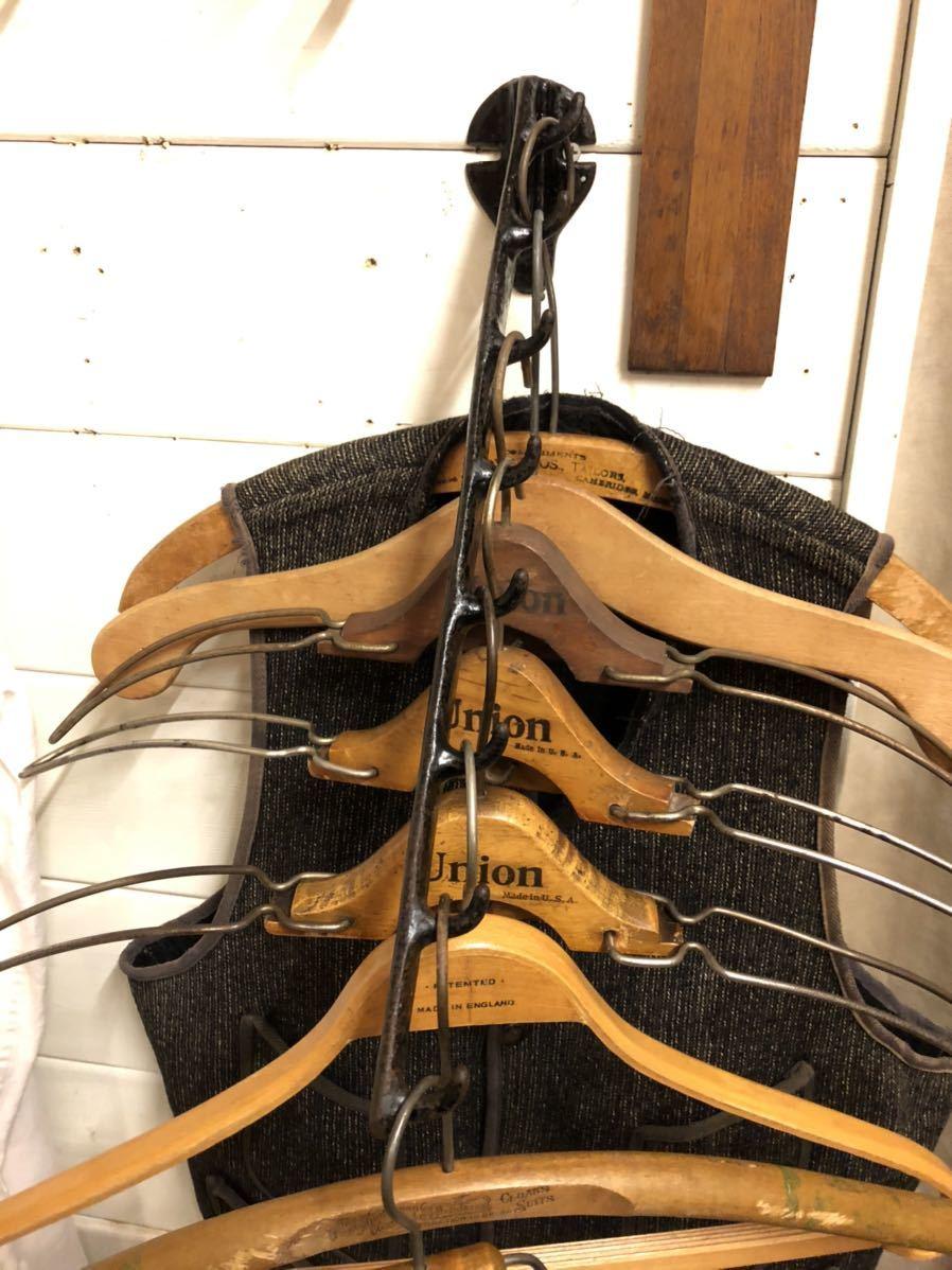 【vintage】ハンガーラック 20s 鋳物 店舗什器 antique ブロカント 古道具 アンティーク ヴィンテージ US 古着 雑貨 ディスプレイ アイアン_画像3
