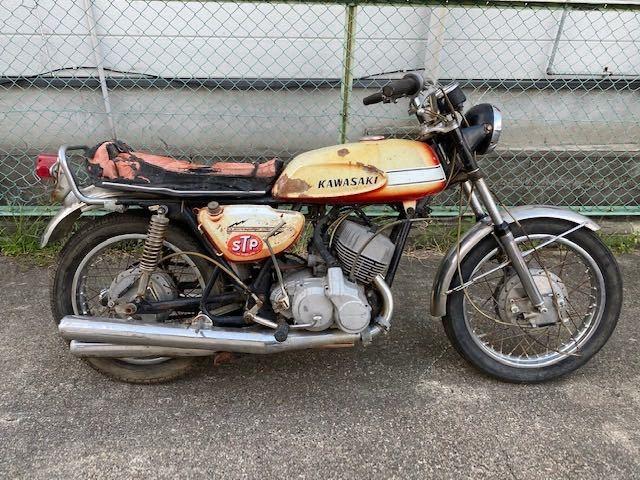 「【エンジン始動OK】【登録書類有】【実働/レストアベース】初期 KAWASAKI H1 マッハ エグリ 500SS MFD1970年5月」の画像1
