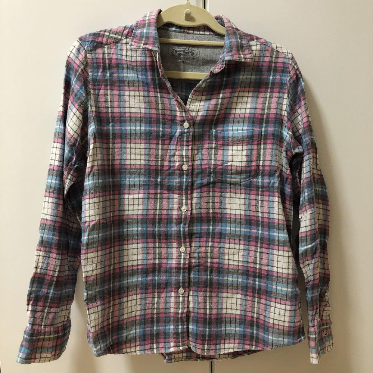 チェックシャツ 長袖シャツ ネルシャツ 長袖