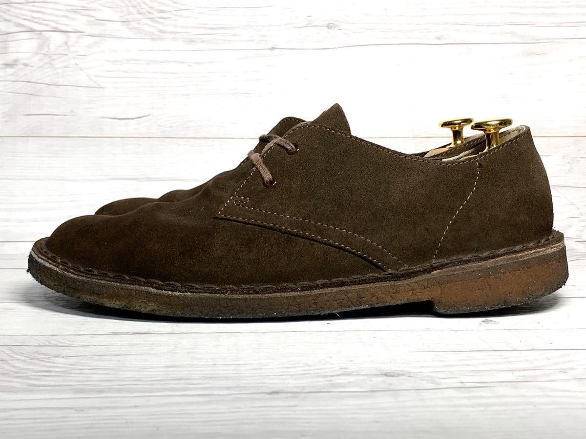 【即決】Clarks Originals クラークス 25.5cm US7.5 茶色 ブラウン スエード メンズ 靴 革靴 天然皮革 くつ プレーントゥ_画像3