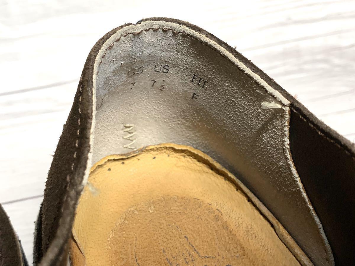【即決】Clarks Originals クラークス 25.5cm US7.5 茶色 ブラウン スエード メンズ 靴 革靴 天然皮革 くつ プレーントゥ_画像6