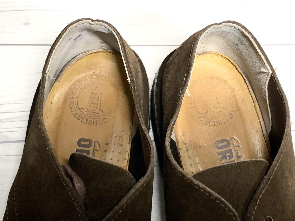 【即決】Clarks Originals クラークス 25.5cm US7.5 茶色 ブラウン スエード メンズ 靴 革靴 天然皮革 くつ プレーントゥ_画像5