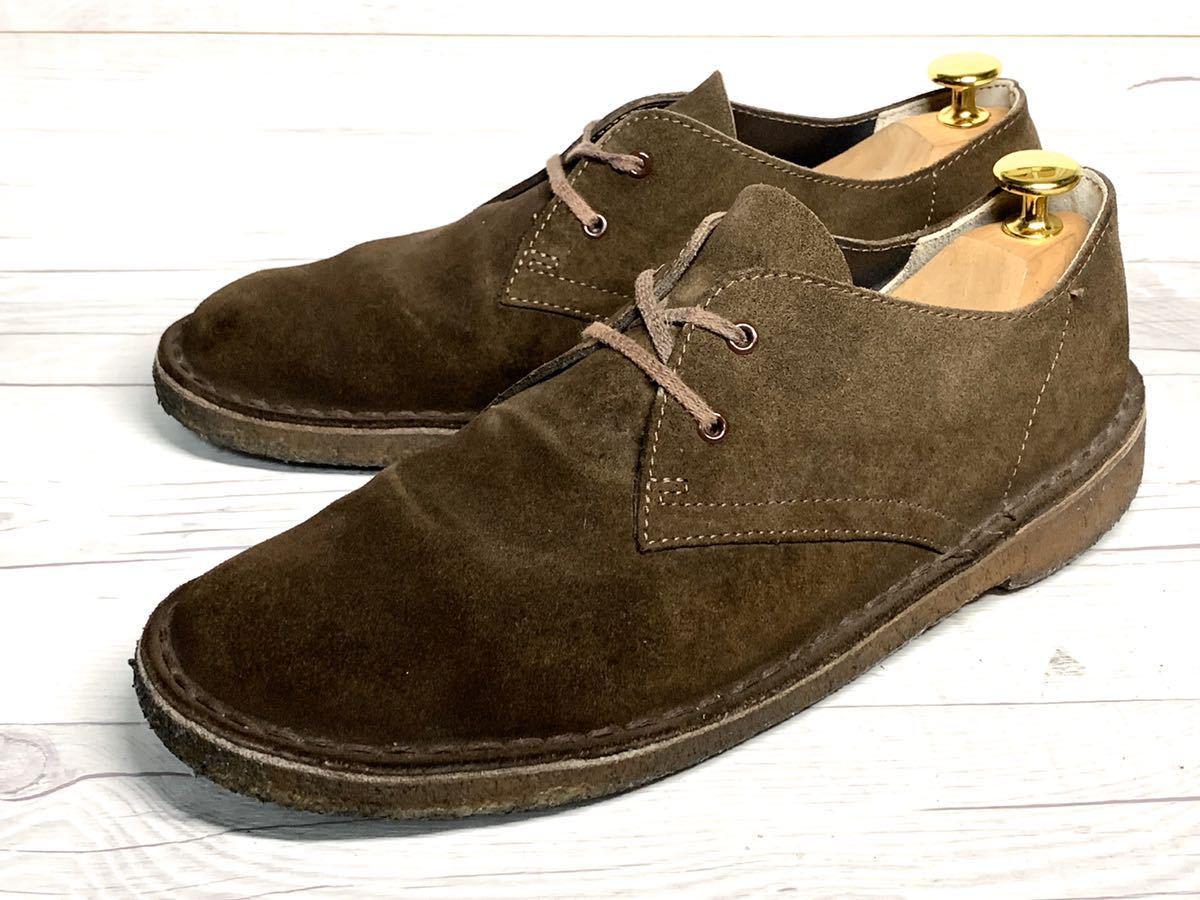【即決】Clarks Originals クラークス 25.5cm US7.5 茶色 ブラウン スエード メンズ 靴 革靴 天然皮革 くつ プレーントゥ_画像1
