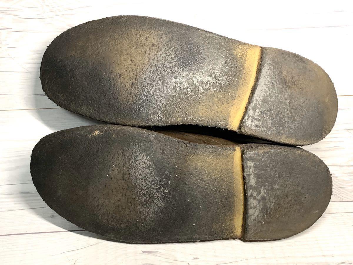 【即決】Clarks Originals クラークス 25.5cm US7.5 茶色 ブラウン スエード メンズ 靴 革靴 天然皮革 くつ プレーントゥ_画像7