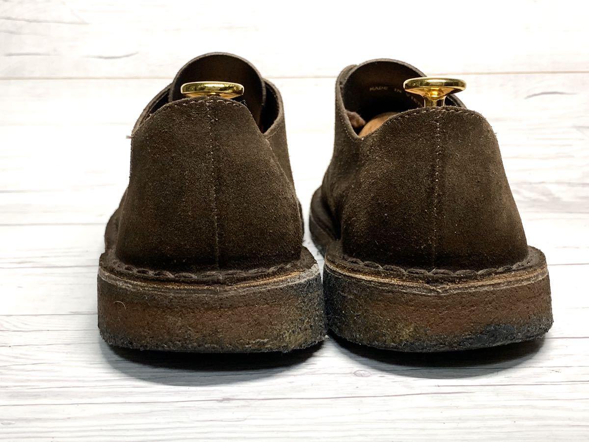 【即決】Clarks Originals クラークス 25.5cm US7.5 茶色 ブラウン スエード メンズ 靴 革靴 天然皮革 くつ プレーントゥ_画像4