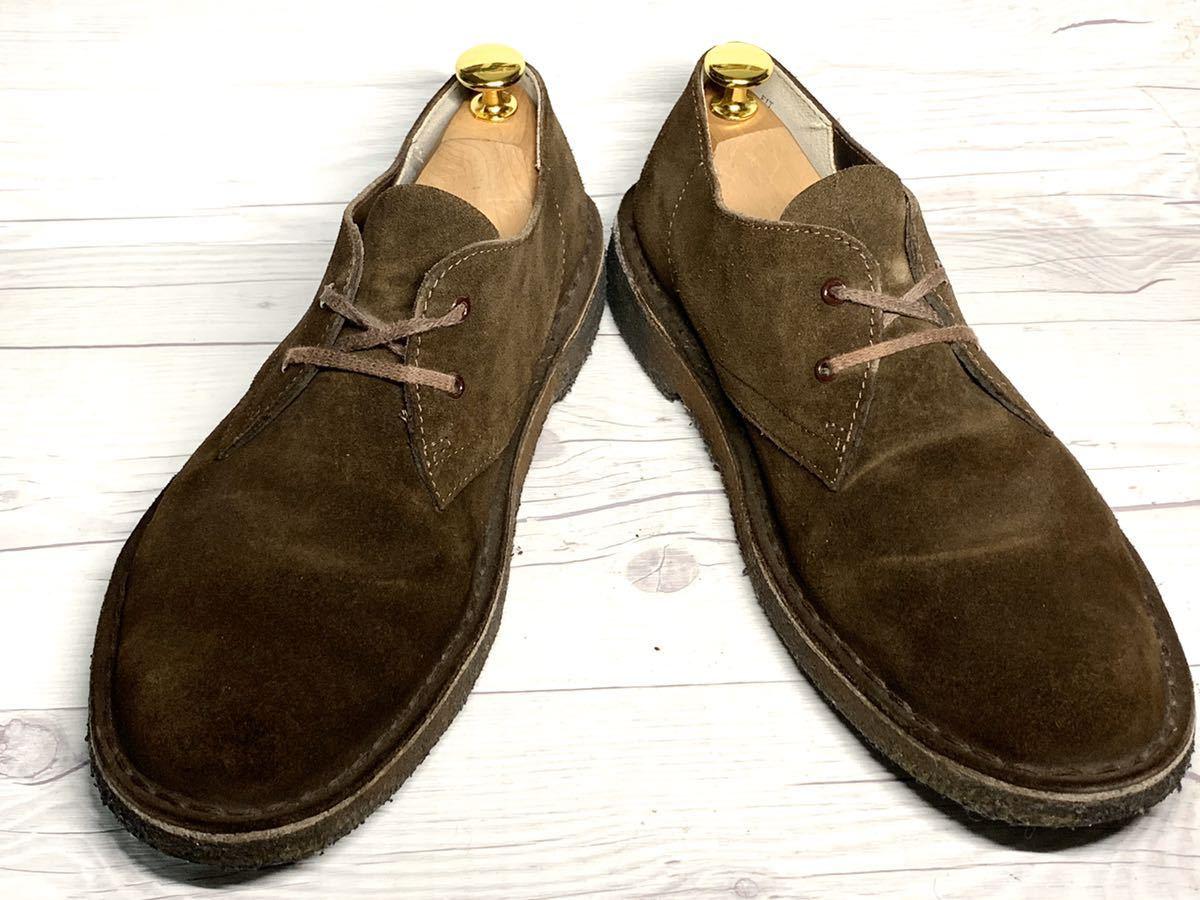 【即決】Clarks Originals クラークス 25.5cm US7.5 茶色 ブラウン スエード メンズ 靴 革靴 天然皮革 くつ プレーントゥ_画像2
