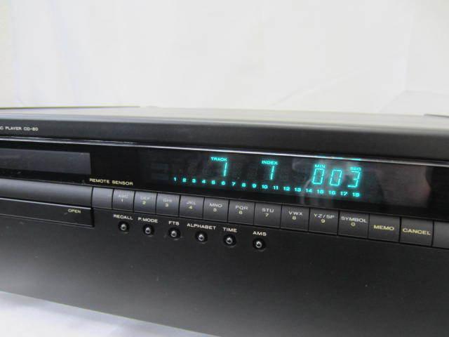 marantz マランツ 【CD-80】 コンパクトディスクプレーヤー 音出し確認済 中古 リモコン・説明書あり CDプレーヤー_画像9