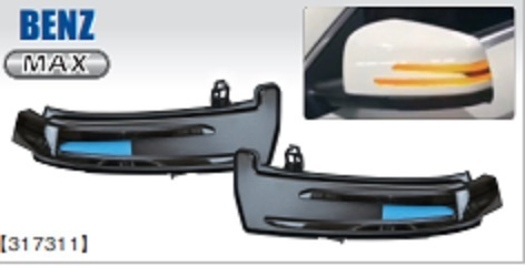 【M's】ベンツ W176 W246 W204 W212 C207 MAX-シーケンシャル LEDドアミラー ウィンカー左右//317311 社外品 流れるウィンカー_画像2