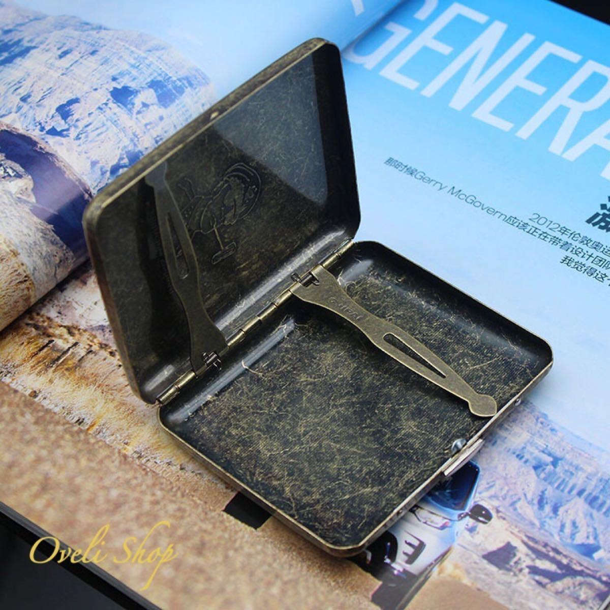 【海外限定】タバコケース 20本収納 マッカーサー ゴールド