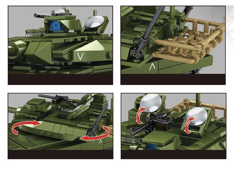 10式主力戦車 ミニフィグ レゴ 互換 LEGO 互換 テクニック フィギュア 陸上自衛隊 type10 main タンク 806pcs_画像2