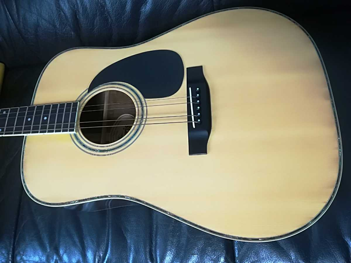 (稀少、コレクション)Morris 縦ロゴ アコースティックギター W-30 / モーリス ジャパンヴィンテージケース付き (中古現状)_画像7