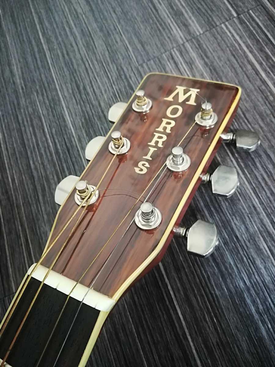 (稀少、コレクション)Morris 縦ロゴ アコースティックギター W-30 / モーリス ジャパンヴィンテージケース付き (中古現状)_画像3