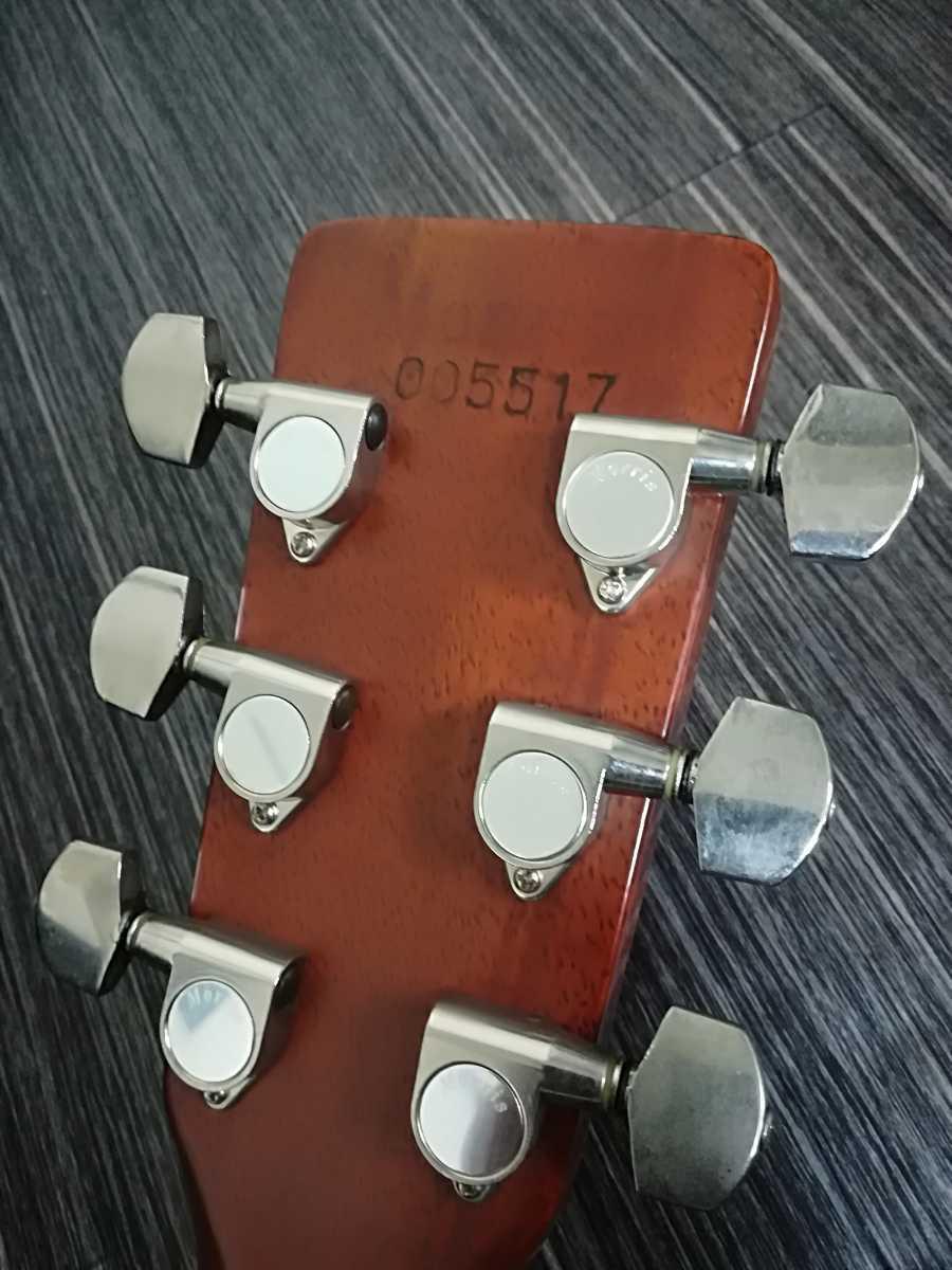 (稀少、コレクション)Morris 縦ロゴ アコースティックギター W-30 / モーリス ジャパンヴィンテージケース付き (中古現状)_画像4