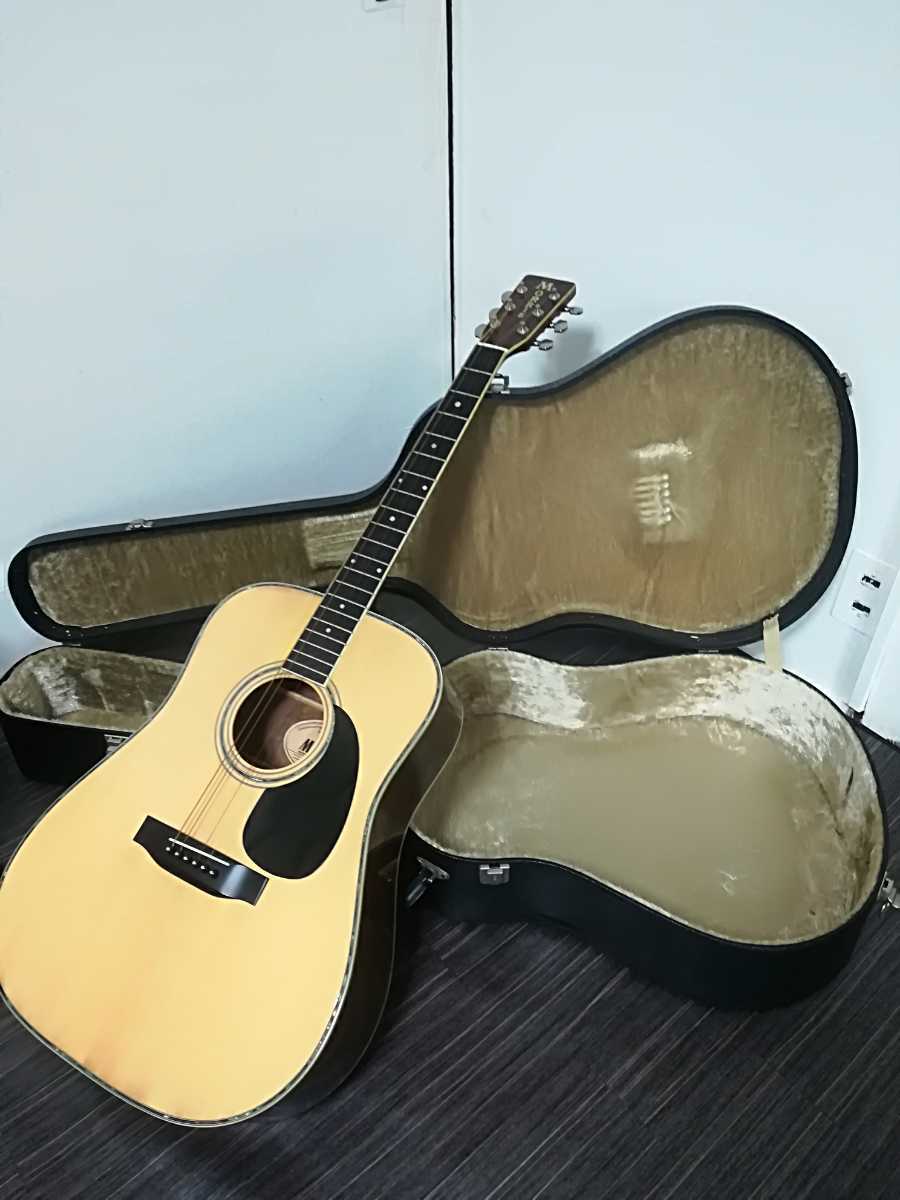 (稀少、コレクション)Morris 縦ロゴ アコースティックギター W-30 / モーリス ジャパンヴィンテージケース付き (中古現状)_画像1