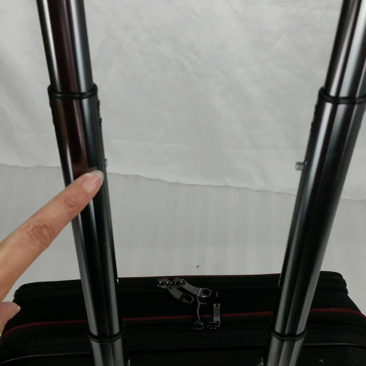 ス111 Sサイズ 横型 フロントオープン スーツケース キャリーケース 機内持ち込み 拡張機能 ブラック_画像10