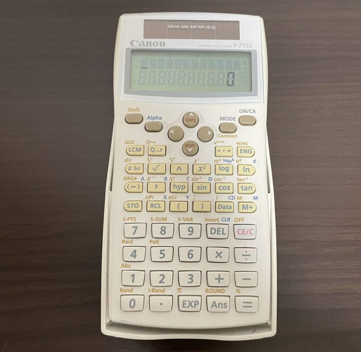 Canon 関数電卓 F-715S