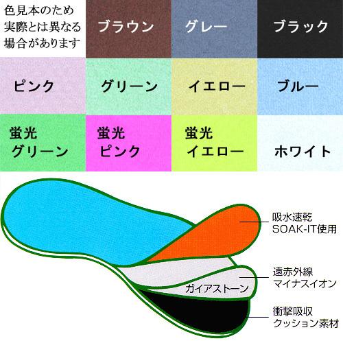 遠赤インソール・27.5cm以下対応・3足set #0015・遠赤外線・マイナスイオン (靴の中敷き)_画像3
