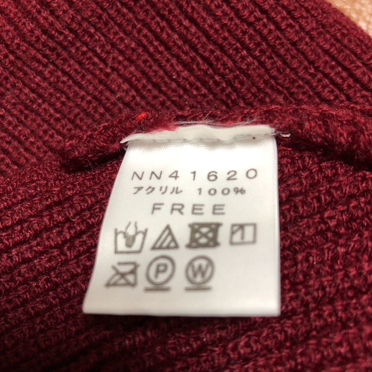 未使用 ノースフェイス ステッチワーク ビーニー ワッチ ニット帽 帽子 ニットキャップ NN41620 THE NORTH FACE Stitchwork Beanie レッド