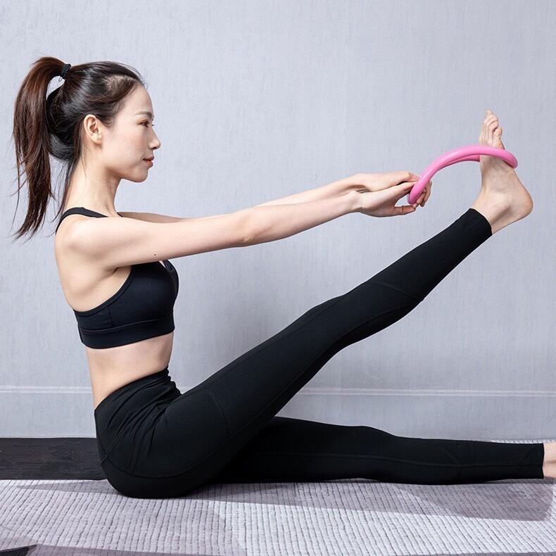 男女兼用 筋トレ ウェーブ ストレッチ リング【単品 薄いピンク】ヨガ エクササイズ フィットネス