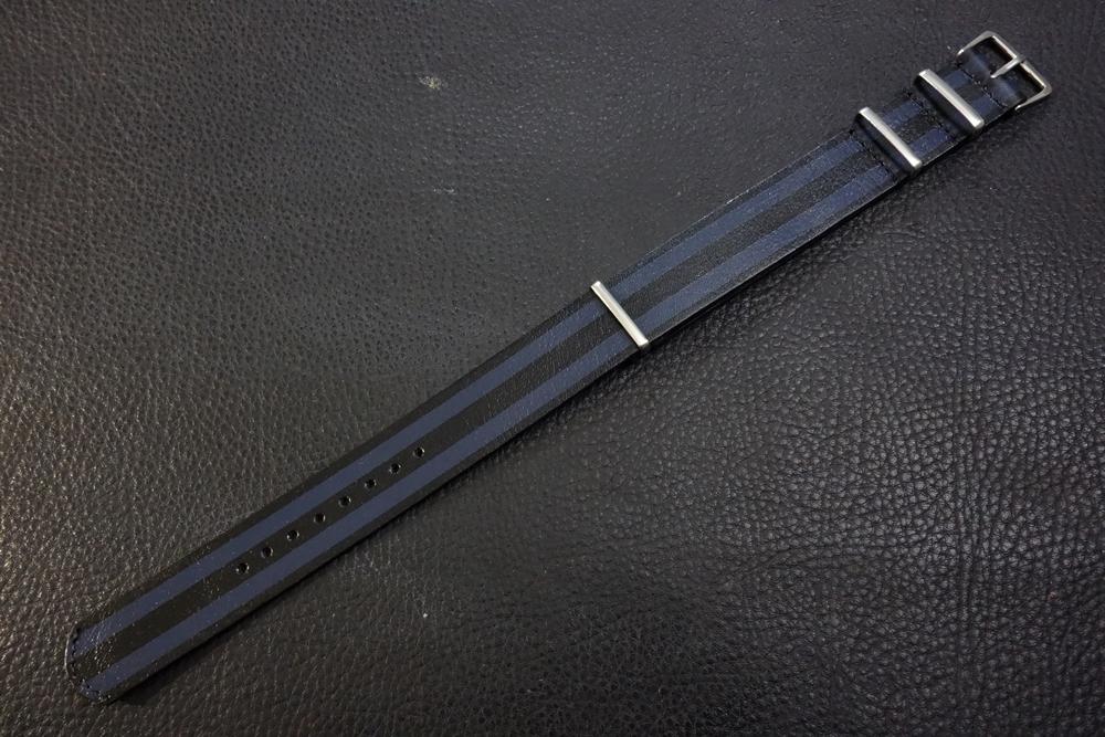 ◆レザーNATO G10ストラップ◆ ボンドカラー カーフレザー 20mm 強力撥水 新品 日本製 本革 黒 ミリタリー ブレスレット 腕時計ベルト_画像1