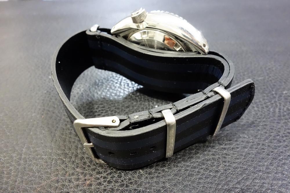 ◆レザーNATO G10ストラップ◆ ボンドカラー カーフレザー 20mm 強力撥水 新品 日本製 本革 黒 ミリタリー ブレスレット 腕時計ベルト_画像5