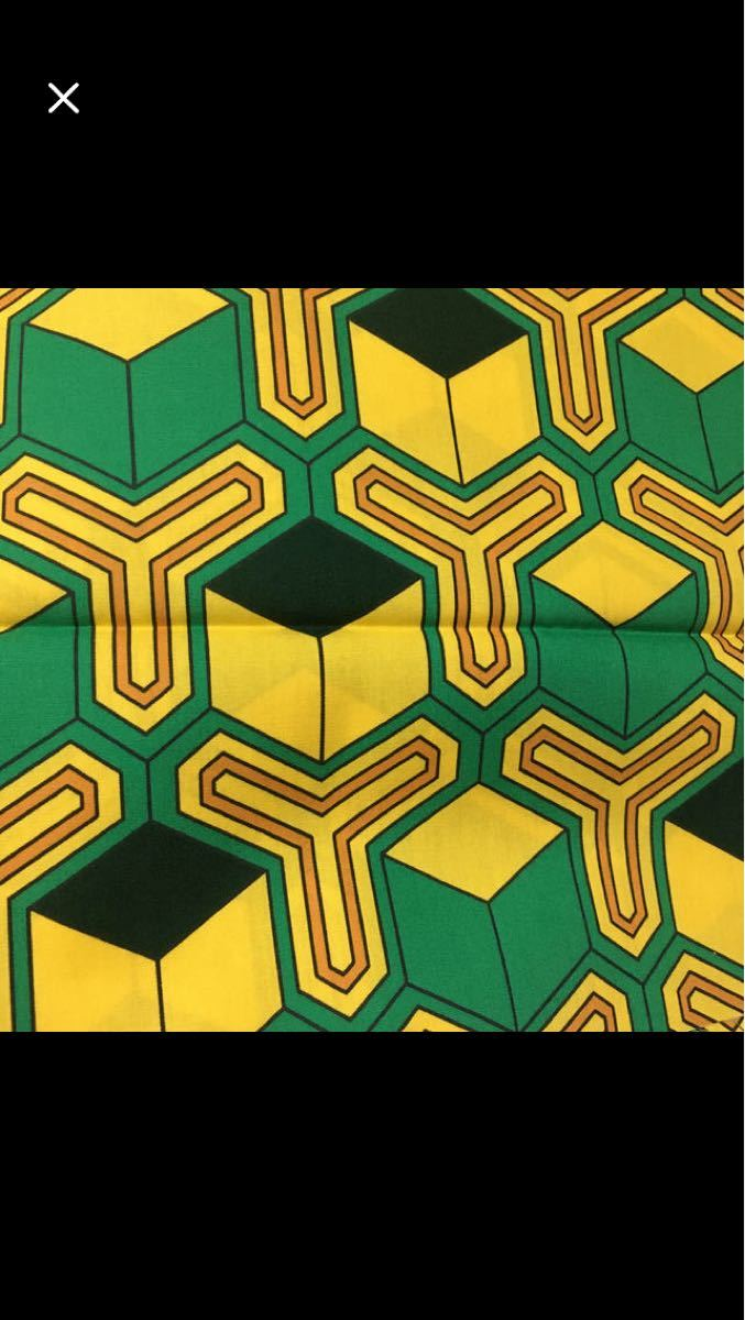 生地 布  亀甲柄 幾何学 綿ブロード コスプレ 110幅 緑と黄色